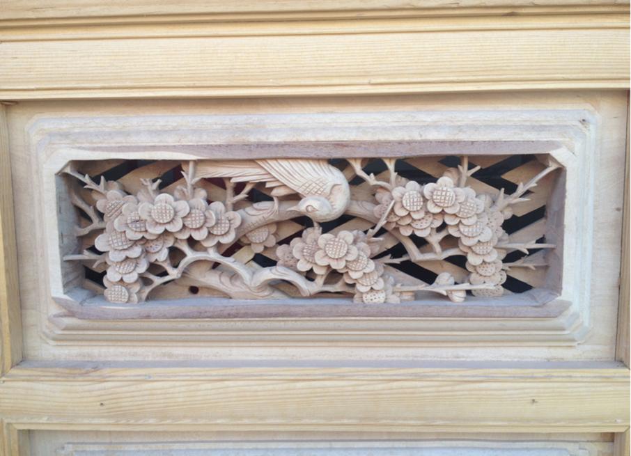 线条窗制作1 - 剑川木雕