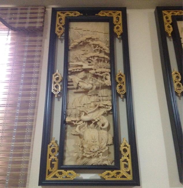 四季花鸟直屏 - 剑川木雕